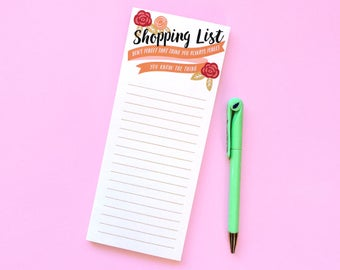 Shopping List (Don't Forget That Thing You Always Forget) Notepad - Funny Notepad - Grocery List - Lined Shopping List - Funny Grocery List