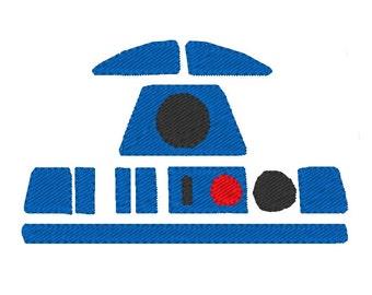 R2D2 minimaliste - Star Wars (motif de broderie)