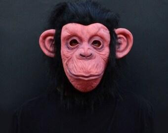 2017 Lazy Song Monkey Halloween Costume Adult Ape Mask