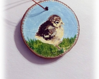 Chick,baby,chicken,fluffy,cute, ornament, miniature painting