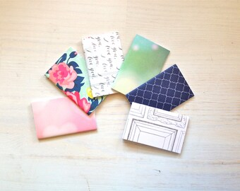Small Notebook Set: 6 Notebooks, Wedding Favors, Pink, Navy, Gift, Party, Kids, Wedding, Favors, Small Notebook, Stamped, Unique, S4-004