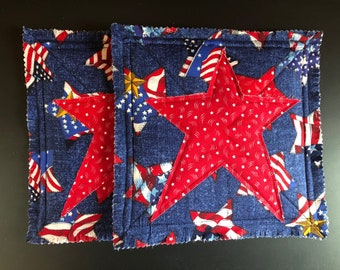 Primitive / Country Star Hot Pads / Pot Holders