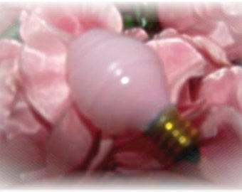 2 Pack PINK Silicone Swirl Night Light Size BULBS to use with small Candlelamps or Night Lights