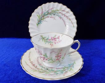 Royal Doulton Bell Heather trio cup saucer side plate