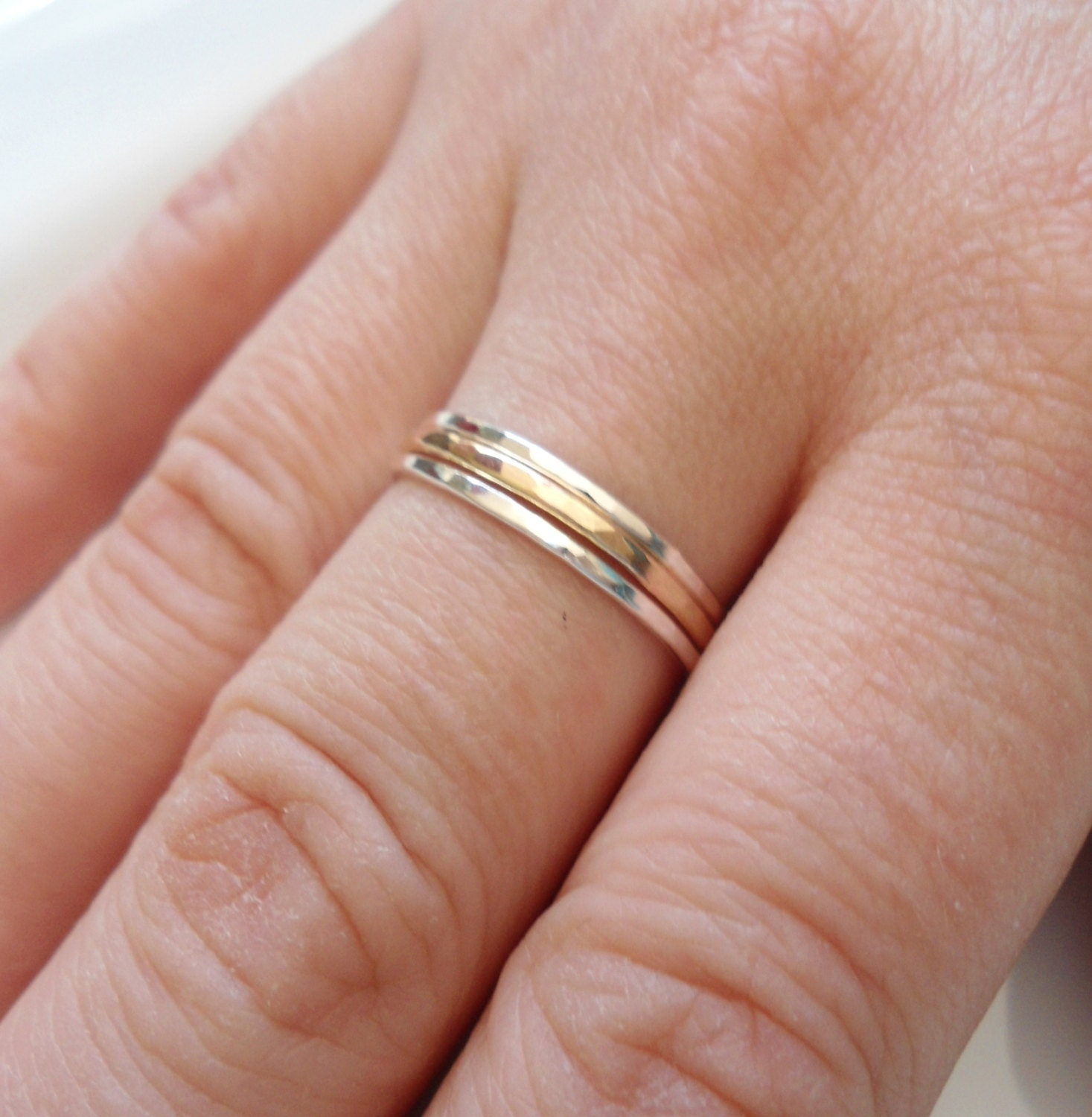 Skinny Stacking Rings Slim gold Ring 14K gold Ring Sterling
