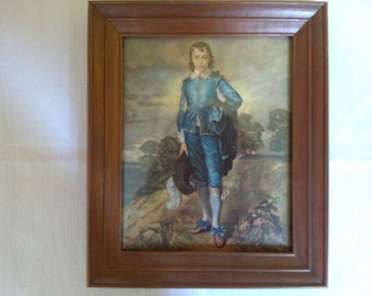 "SALE Vintage Print - ""Blue Boy"" Framed Originally by Thomas Gainsborough Classic Blue Boy Print Gainsborough Winde Fine Prints"