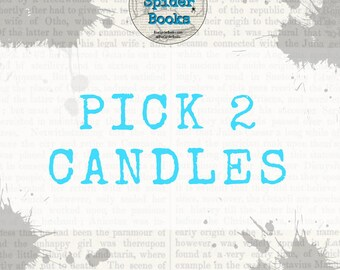 PICK TWO Candles    Soy Candles    Candle Gift    Gift Sets    Candle Set    Soy Candle Bundle    Housewarming Gifts    Gifts Under 25   