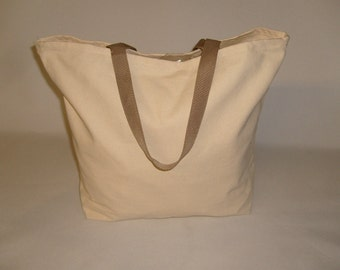 Tote shopping bag 10 oz canvas,open top Grocery Bag ,Reusable bag made in U.S.A