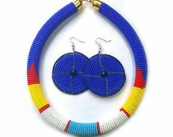beaded neckpiece