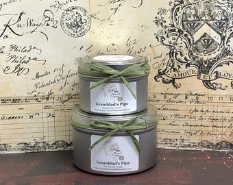 Granddad's Pipe - Container Candle - 4oz candles - 8oz candles - Candle Gift - Scented Candles - Pipe Tobacco