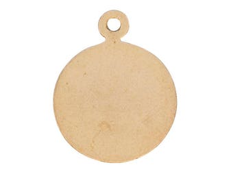 Large Disc With Ring Charm - Gold Filled (GF Item#C20823)