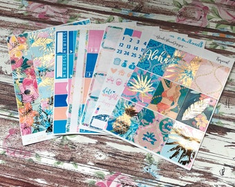 FOIL Tropical Deluxe Kit, planner stickers