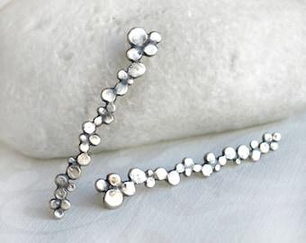 Dots...sterling silver post earrings
