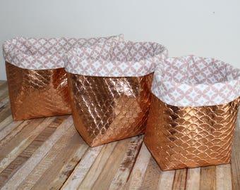 Set of 3 storage baskets / empty Pocket