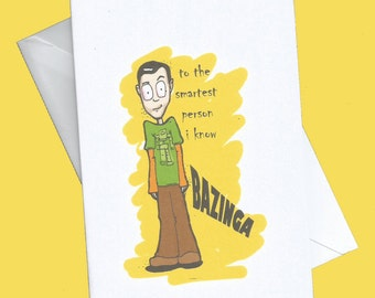 Bazinga, big bang theory ,birthday card,funny birthday card,funny birthday cards, sheldon cooper