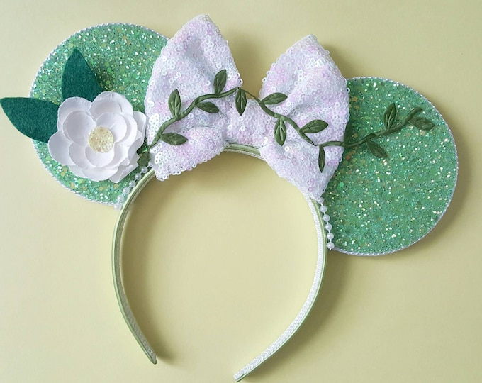 Princess Tiana Mouse Ears Headband | Tiana Mouse Ears | Princes and the Frog Headband  Ears| Tiana Mouse Ears |