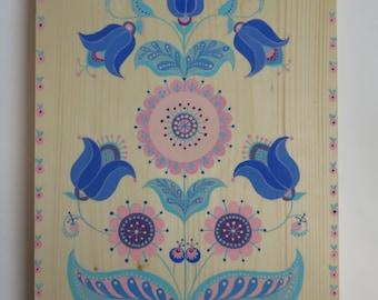 wood painting.wall decor.painting.art panel.wood art