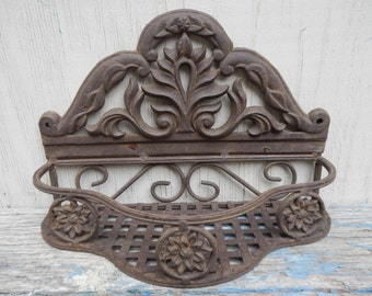 French Country Heavy Metal Wall Planter!