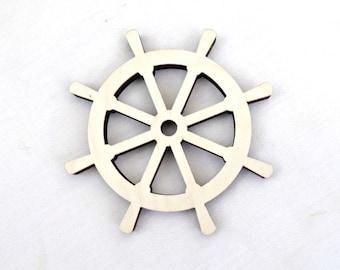 Ship Wheel Wood Shape, Unpainted Boat Wheel Shape Unpainted Wood Nautical Wheel Nautical Nursery Wheel Sailing Wheel Nautical Wedding Decor