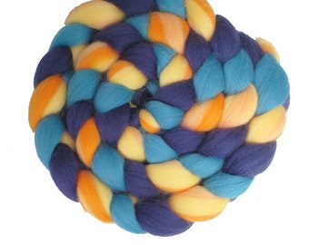 Jabberywocky Braidients: 100% Merino Three-Color Combo Combed Top Braid for Spinning, Felting