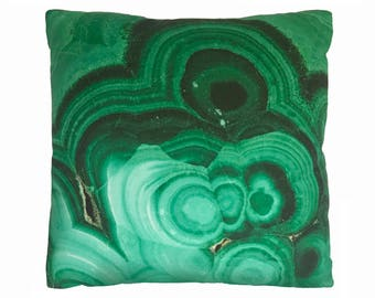 "Malachite Crystal 16"" Accent Pillow"