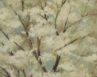 Spring Blossoms, Original Oil Painting, floral art, tree art, 10x20