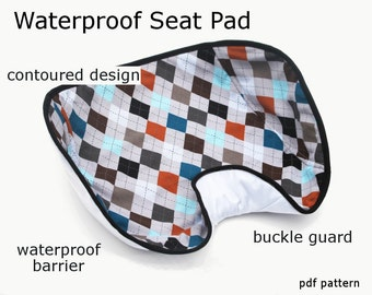 Waterproof Car Seat Pad - immediate download of pdf sewing pattern