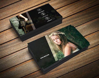 Photography Business Card Template, Photoshop Template, Photo Business Cards, Photography Marketing, Business Card for Photographers