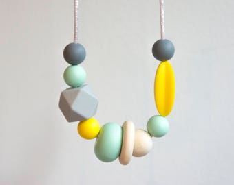 Teething Necklace For Mum   Sensory Necklace   Nursing Necklace   Silicone Necklace   Baby Teething Necklace   Baby Shower Gift   Teething