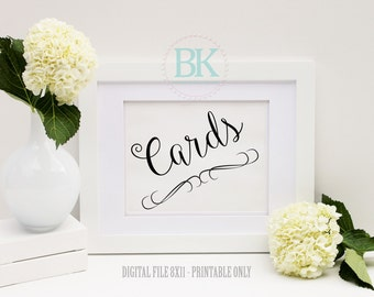 Printable CARD Sign,  Wedding Signs & Card to print