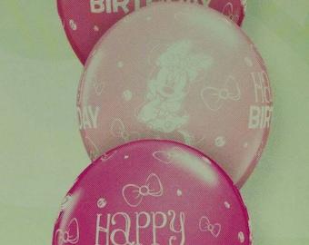 Disney Minnie Mouse Happy Birthday latex balloons x 5