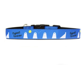 Flyball Forver Dog Sport 1 Inch Wide Dog Collar with Adjustable Buckle or Martingale in an Exclusive Design