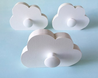 Cloud Wall Hook, Room Decor,  White Cloud,  Kids Decor, Cloud Hanger, Eco-friendly