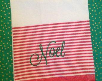 Noel kitchen towel - christmas - hostess gift - housewarming gift - teacher gift