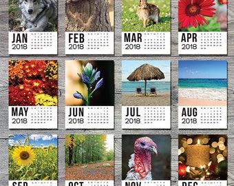Calendar Printable, Small Desk Calendar, Desktop Calendar, 2018 Wall Calendar, Desk Calendar, Printable Calendar, Wall Calendar 2018, Mini