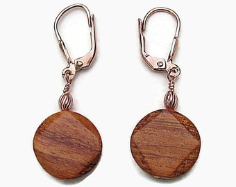 Wood Earrings brown earrings