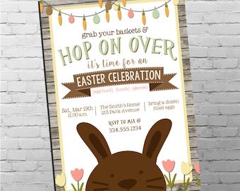 Easter Egg Hunt Invitation | Easter Bunny Invitation | Easter Egg Hunt | Digital Invitation