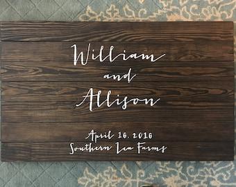 Wedding Guest Book, Rustic Guest Book, Wedding Sign, custom wedding sign, custom wedding decor