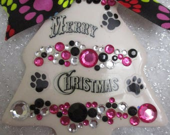 Dog lovers personalized Christmas ornament