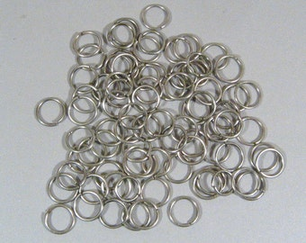 10mm Antique Silver Jump Rings - Choose Your Quantity