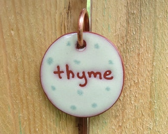 Herb Marker, Thyme, Herb Stake, Herbs, Herb Stakes, Plant Markers, Garden, Gardening Gifts, Mother's Day Gift, Herb Decoration