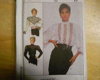 Vintage Uncut Simplicity Pattern 8357 Size 14 Stunning Vintage Style Tops, Blouses