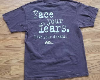 No Fear 1996 Vintage Face Your Fears T-shirt Large