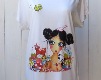 Loose woman SCARLET Kawaii cotton modal t-shirt