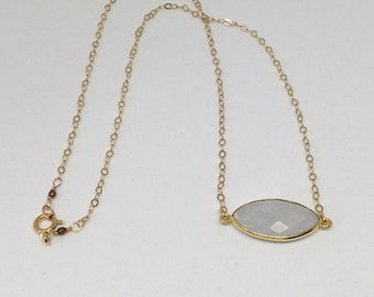 Moonstone Gold Pendant Necklace