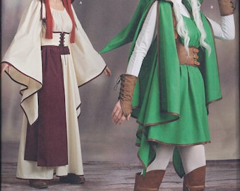Simplicity 8199 Misses Women's Gaming Warrior Cosplay Costume UNCUT Sewing Pattern