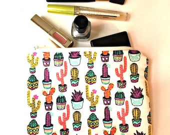Succulent Laptop Cord Pouch, Charger Cord Bag, Cosmetic Bag, Travel Bag, Toiletry Bag, Zipper Case, Zipper Pouch, Zipper Bag, Custom Fabrics