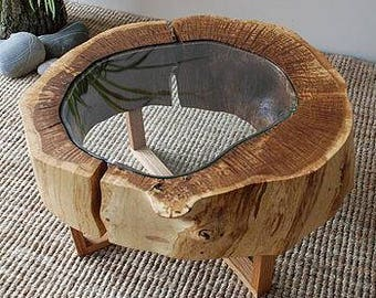 Hollow Log slice Driftwood Coffee table