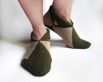 Hand Knitted House Slippers