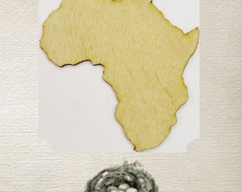Africa (Medium) Wood Cut Out - Laser Cut